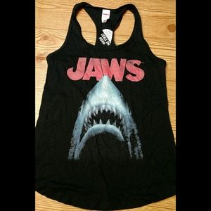 JAWS black racer back tank